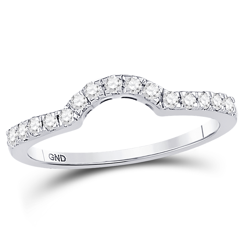 Saslow's & Henebry's Collection 1/4 ctw Curved Diamond Band