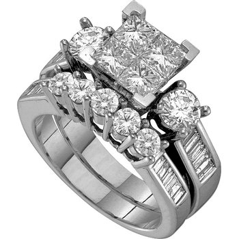 1ctw Princessa Diamond Ring