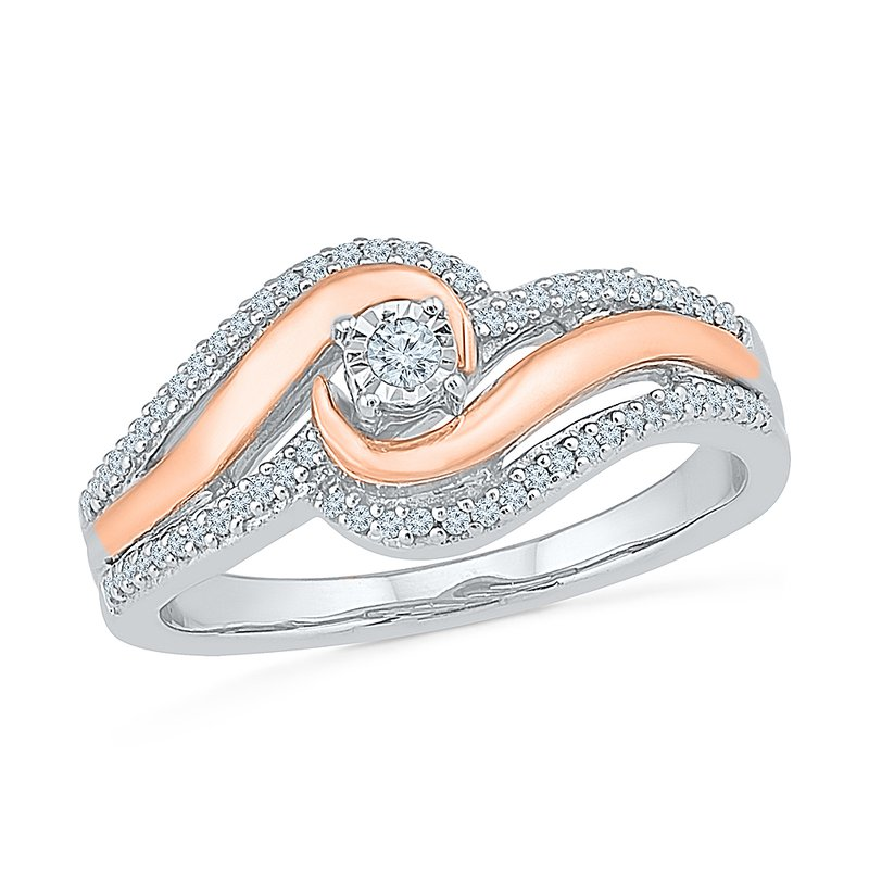 Saslow's & Henebry's Collection Two Tone Promise Ring