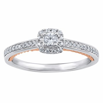 Halo Promise Ring