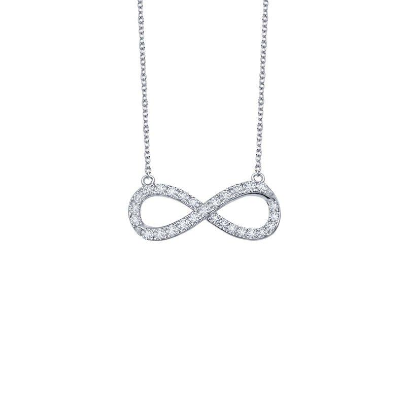 LaFonn 0.33 CTW Infinity Necklace