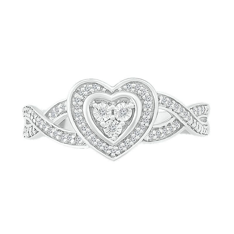 Gifts That Rock .10 Cttw Heart Ring