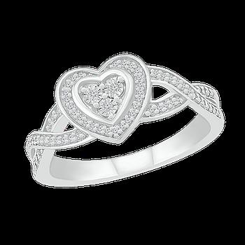 .10 Cttw Heart Ring
