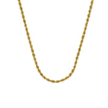 "22"" 14K 3mm Diamond Cut Rope Chain"