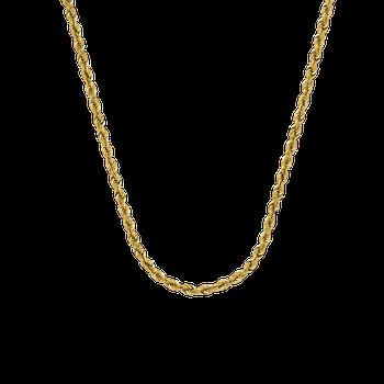 "22"" 14K 3mm Diamond Cut Rope Chain"