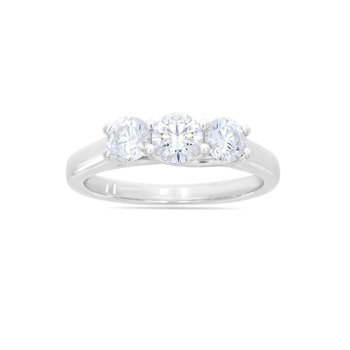 Certified 1ct Diamond 3-Stone Engagement Ring
