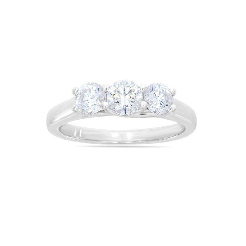 Lab Grown Diamonds Certified 1ct Diamond 3-Stone Engagement Ring