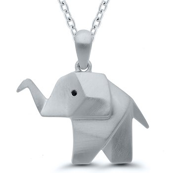 Origami Elephant SS Necklace
