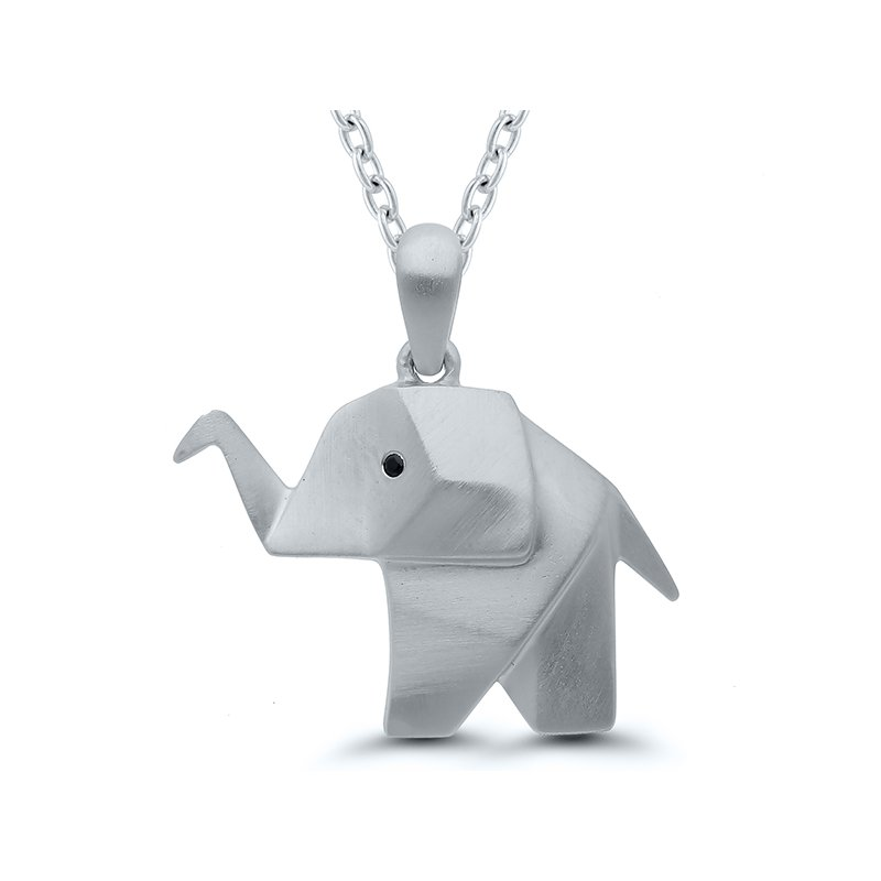 Gifts That Rock Origami Elephant SS Necklace