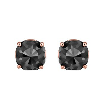 2 ctw Cushion Cut Black Diamond Earrings