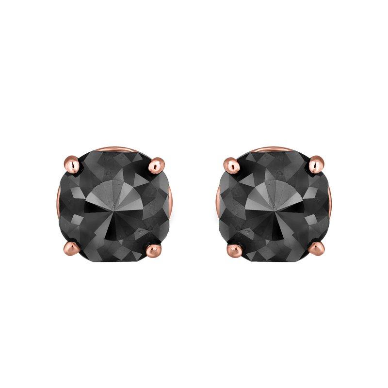 Saslow's & Henebry's Collection 2 ctw Cushion Cut Black Diamond Earrings