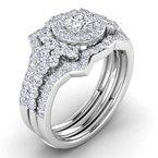 Lab Grown Diamonds Certified Lab 1 3/8ct Engagement Ring