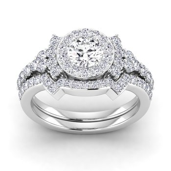 Certified Lab 1 3/8ct Engagement Ring
