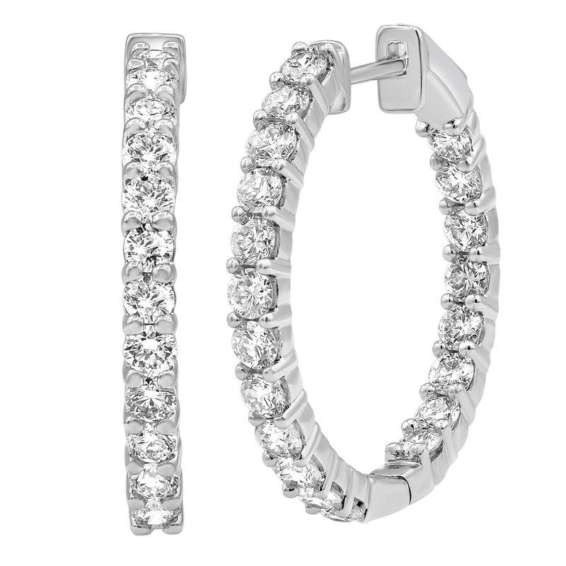 Lab Grown Diamonds 2ctw In/Out Hoop Earrings