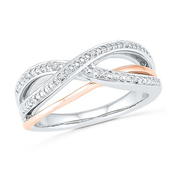 .07ctw Two Tone Diamond Ring