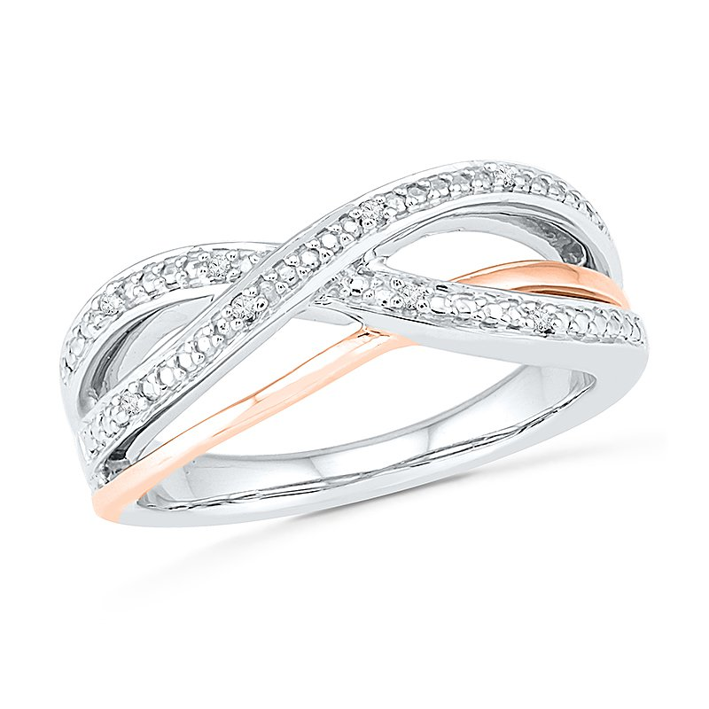 Gifts That Rock .07ctw Two Tone Diamond Ring