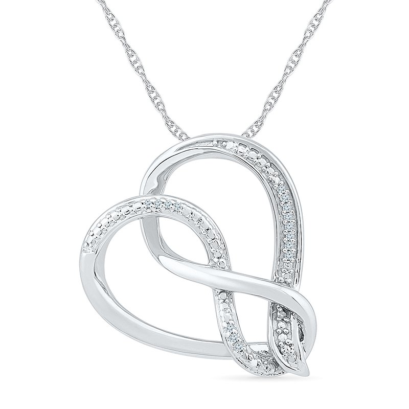 Gifts That Rock Diamond Heart Pendant