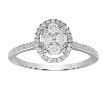 .42ctw Diamond Oval Cluster Ring