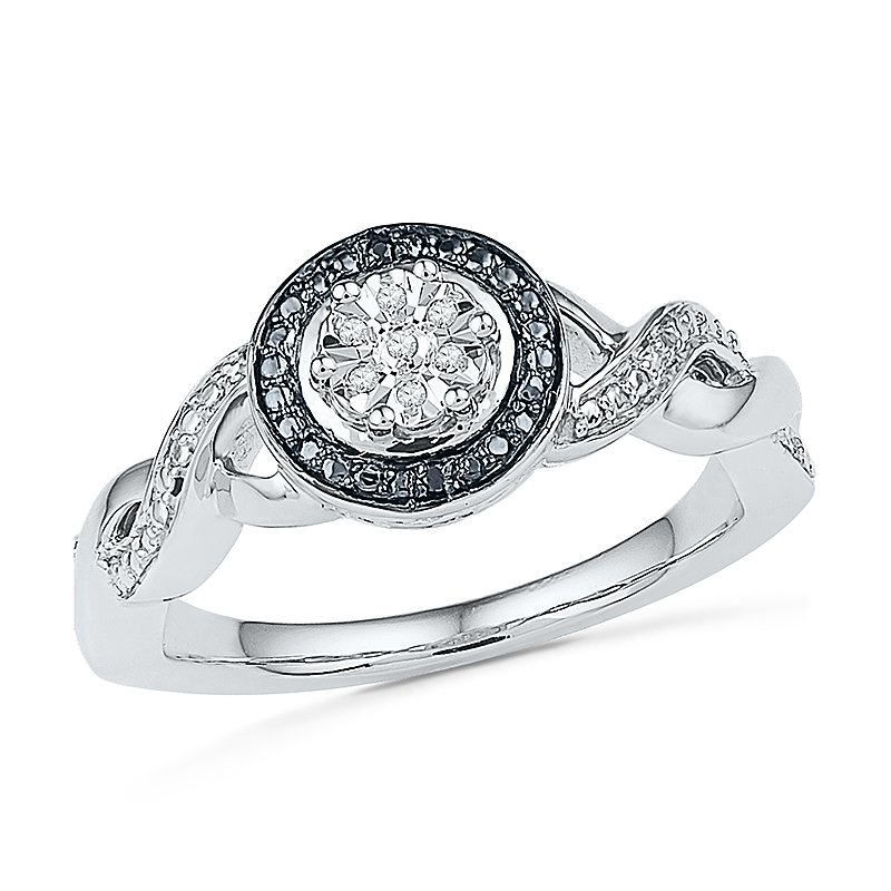 Gifts That Rock Black and White Promise Ring