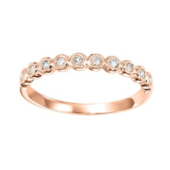 Pink Gold 1/8ctw Diamond Band