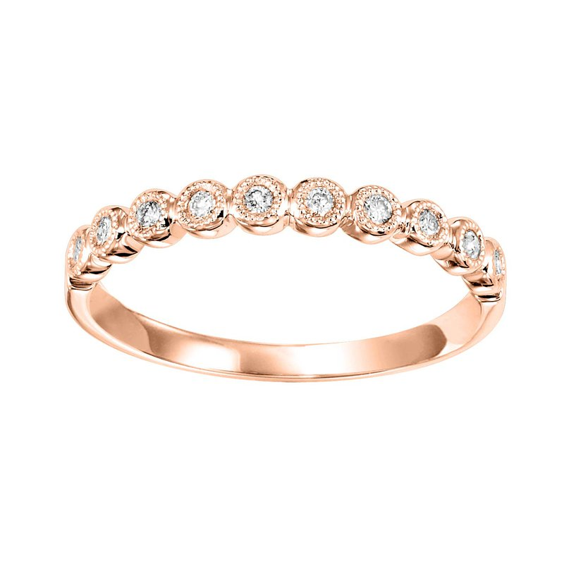 Saslow's & Henebry's Collection Pink Gold 1/8ctw Diamond Band