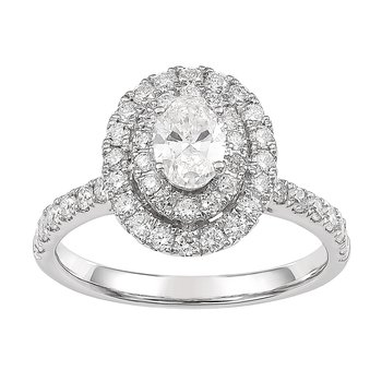 Certified 1.25 Ctw Diamond Halo Engagement Ring Double