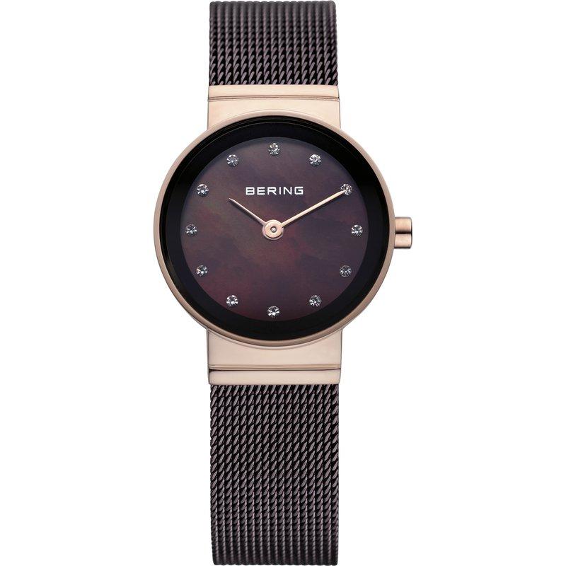 Bering  Ladies SS Case, Brown Bracelet & Dial Watch