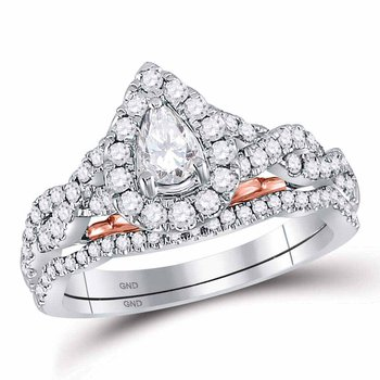 1 CT-DIA 1/4CT PEAR BELLISSIMO BRIDAL RING