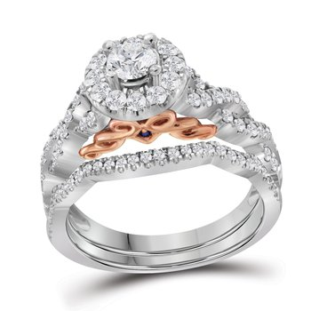 1 ctw 14K 1/3 ct Center Stone Bellissimo Bridal Set