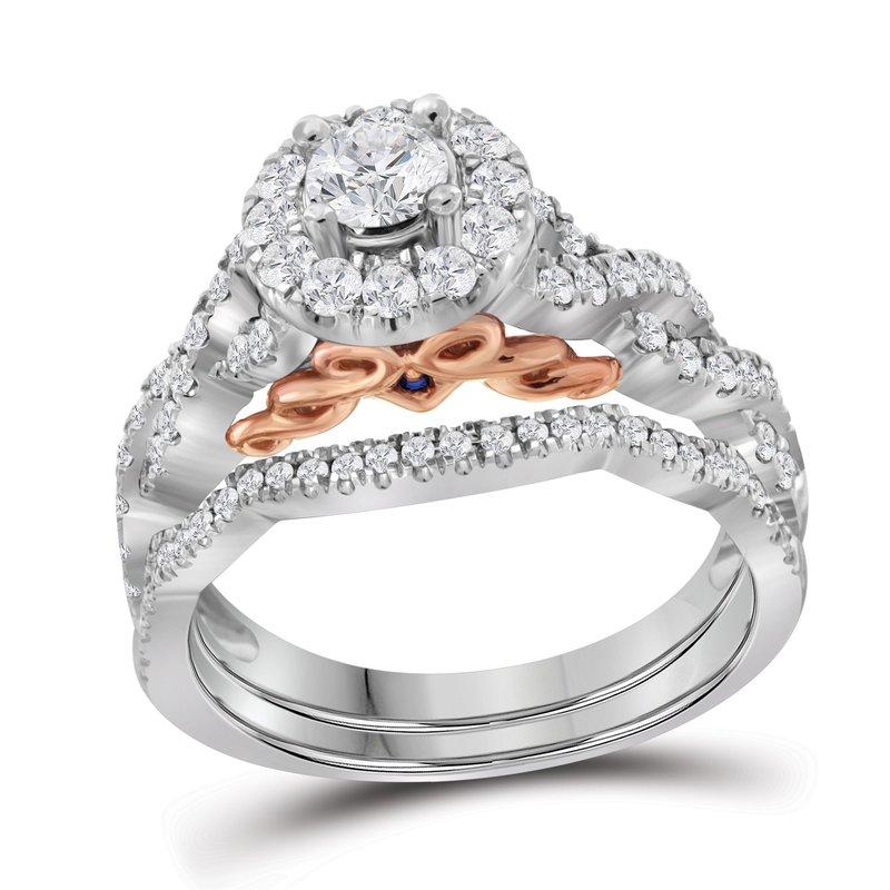 Bellissimo 1 ctw 14K 1/3 ct Center Stone Bellissimo Bridal Set