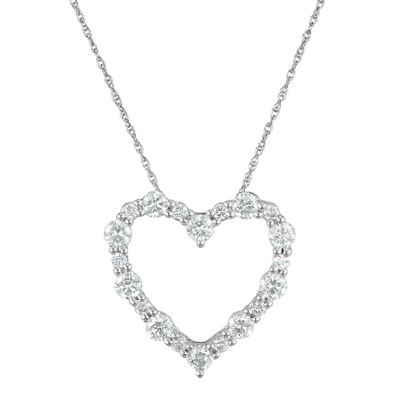 Lab Grown Diamonds 1ctw Lab Grown Heart Pendant