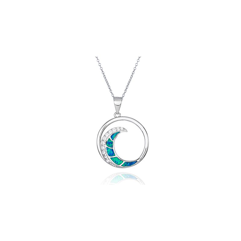 Gifts That Rock Sea Life Wave Pendant