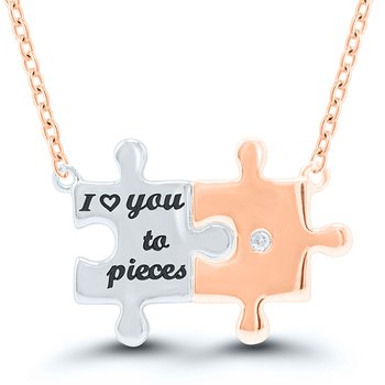 """I Love You To Pieces"" Necklace"