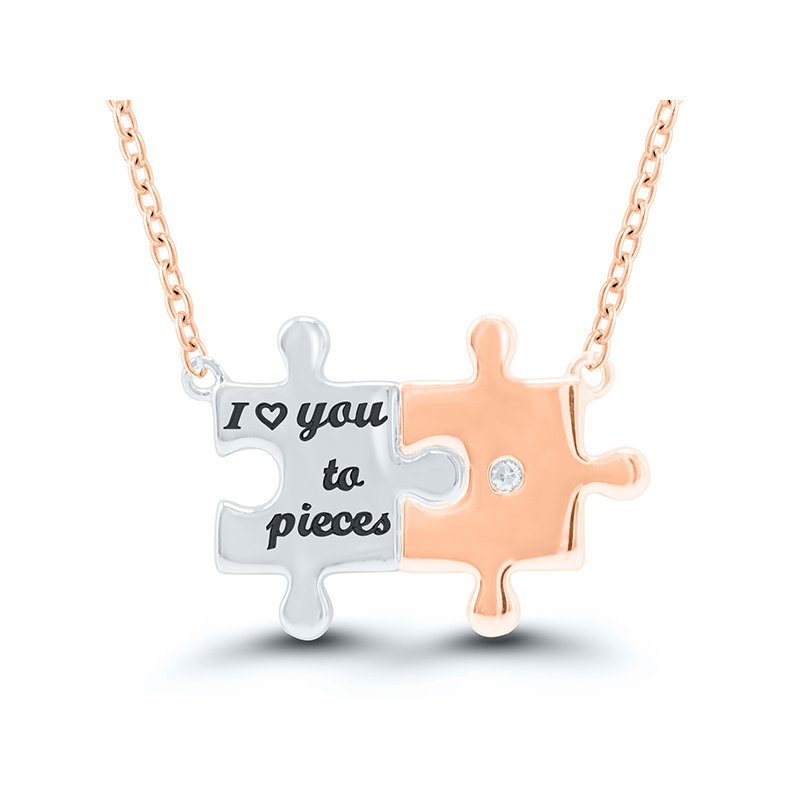 "Gifts That Rock ""I Love You To Pieces"" Necklace"