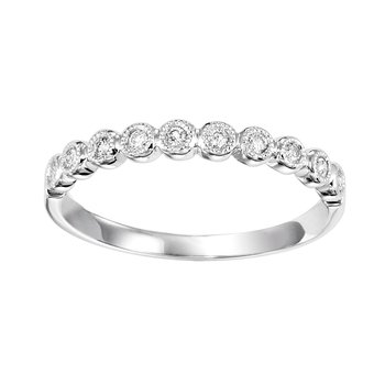 White Gold 1/8ctw Diamond Band