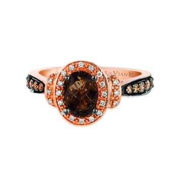 Rose Gold Smokey Quartz Ring