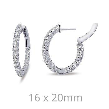 0.52 CTW Halo Stud Earrings