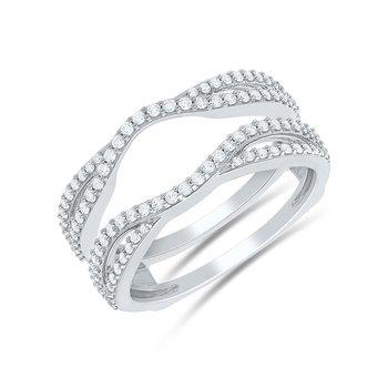 14KW .50ctw Curved Diamond Insert
