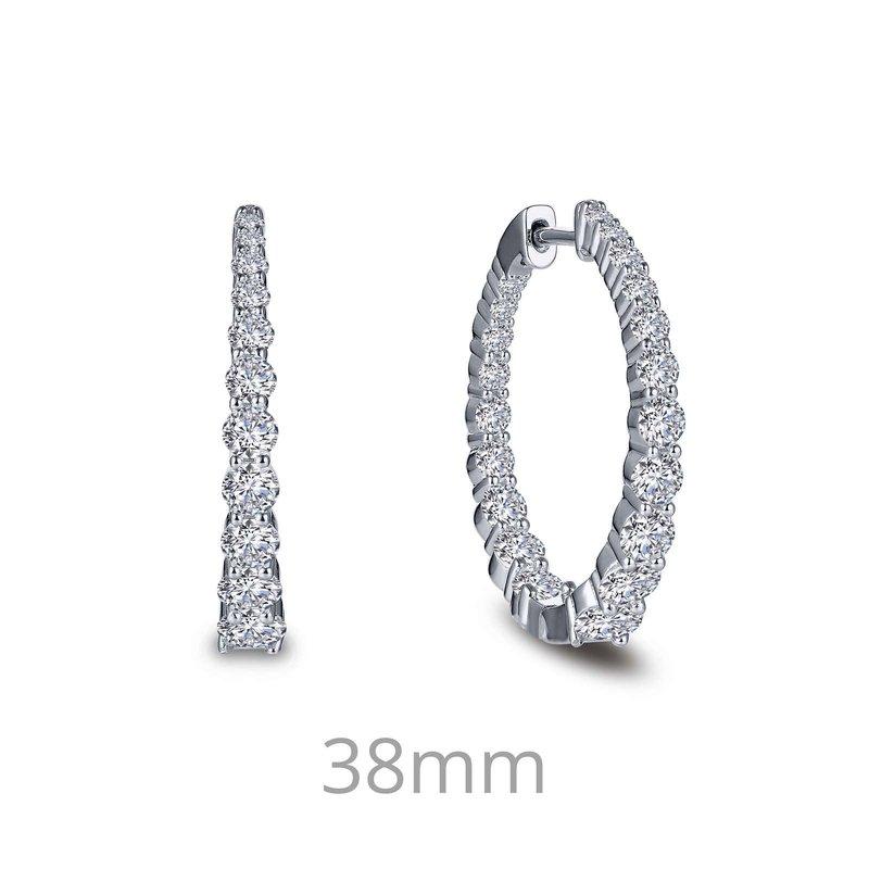 LaFonn 2.62 CTW Hoop Earrings