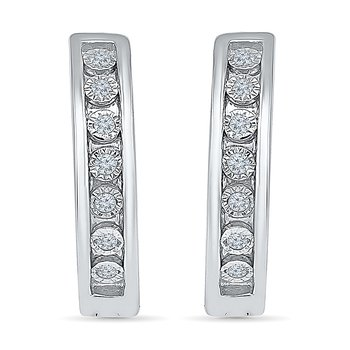 .10 ctw Diamond Hoops