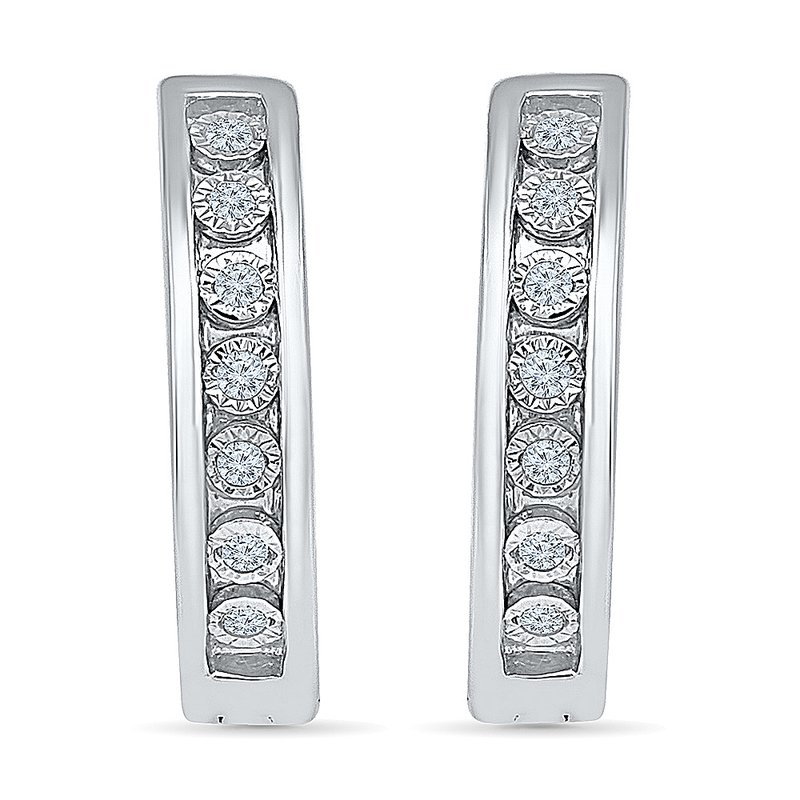 Gifts That Rock .10 ctw Diamond Hoops