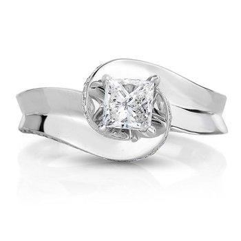 1ctw Princess Cut Engagement Ring