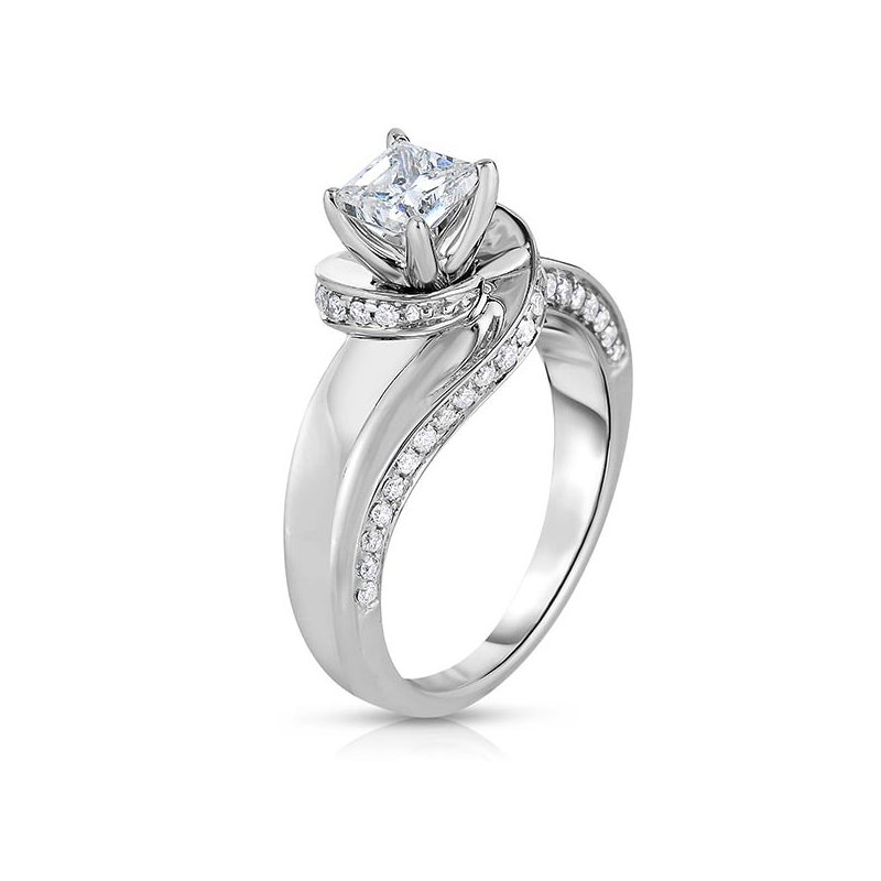 Promise Forever 1ctw Princess Cut Engagement Ring