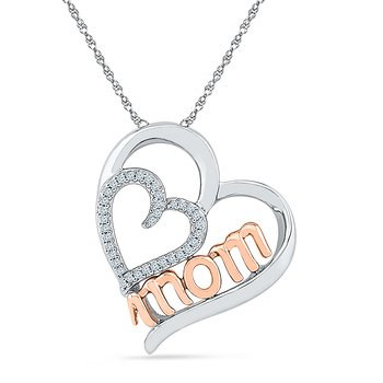 Mom Two Tone Pendant