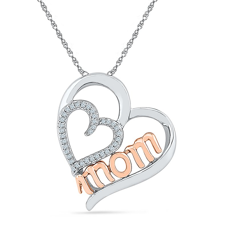 Gifts That Rock Mom Two Tone Pendant