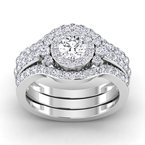 Lab Grown Diamonds Certified 7/8ctw Diamond Engagement Ring