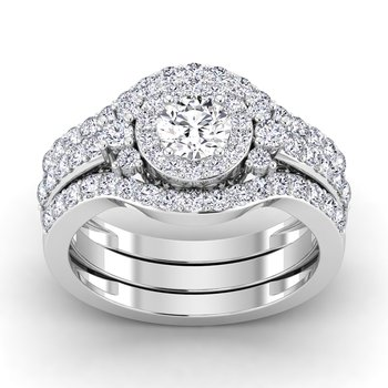 Certified 7/8ctw Diamond Engagement Ring