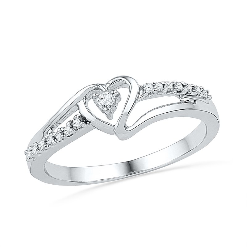Gifts That Rock Silver Heart Promise Ring