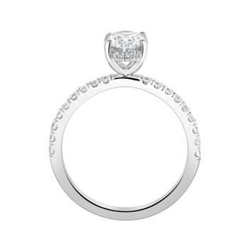 Certified 1.10ctw Oval Hidden Halo Ring