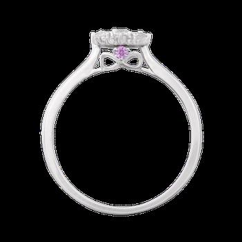 1/4ctw Round Center Flower Promise Ring